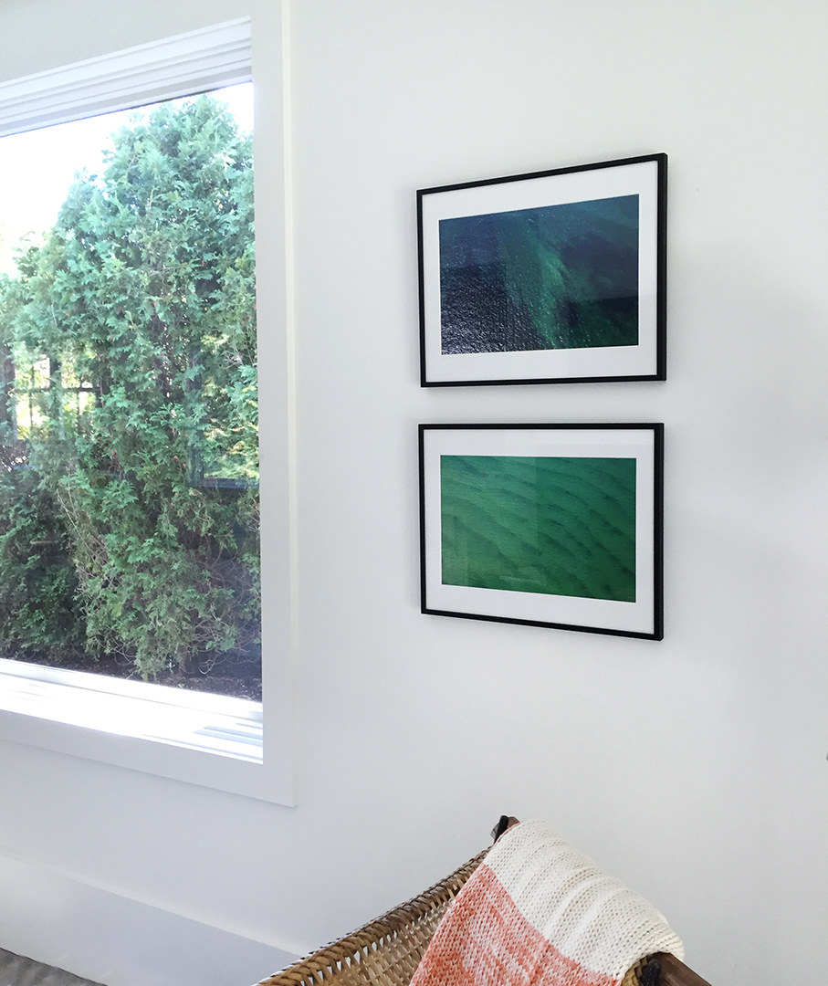 """Blue Green One"" and ""Green with Blue"" in private home, Sag Harbor, NY."