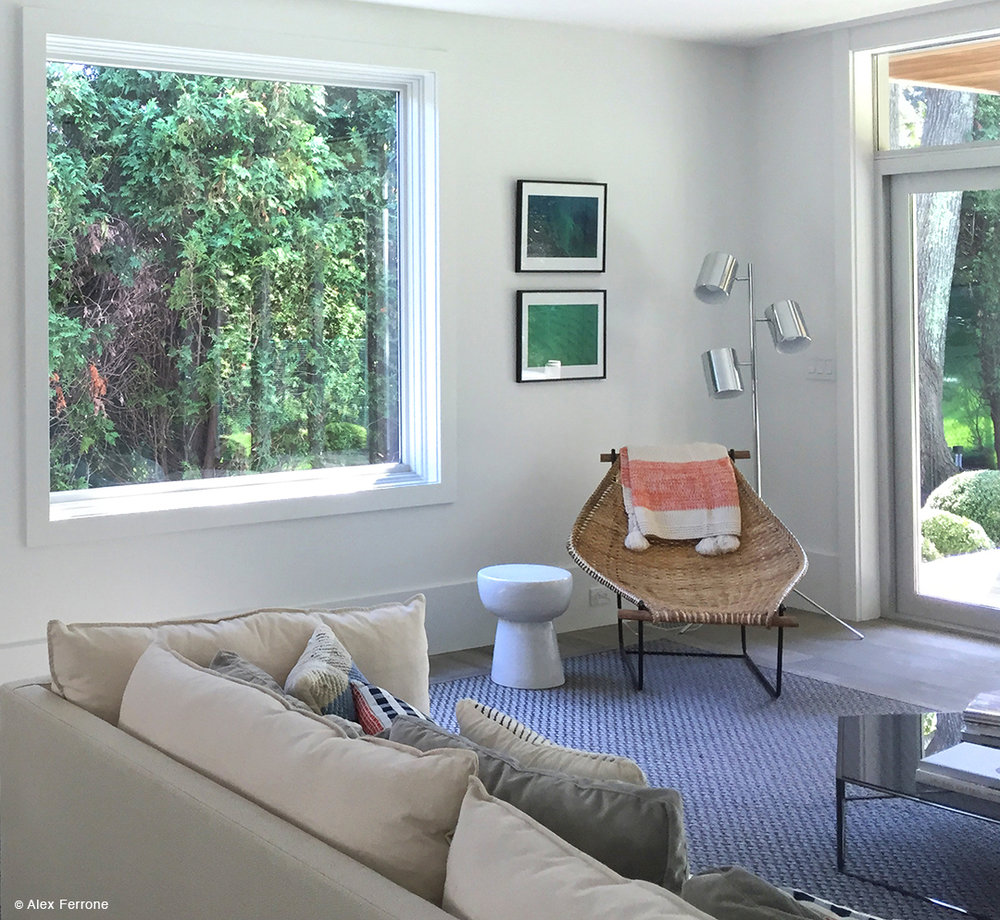 """Blue Green One"" and ""Green with Blue"" in private home Sag Harbor, NY."