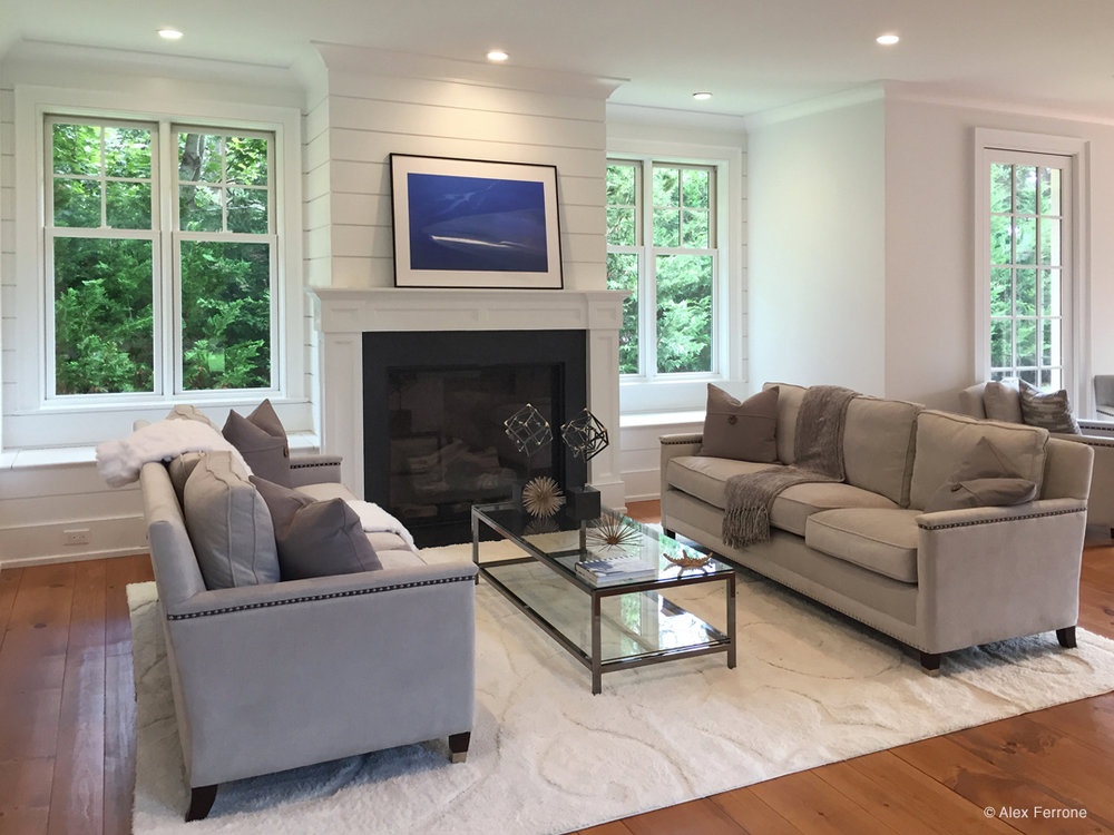 """All Blues"" installed in private home, East Hampton, NY"
