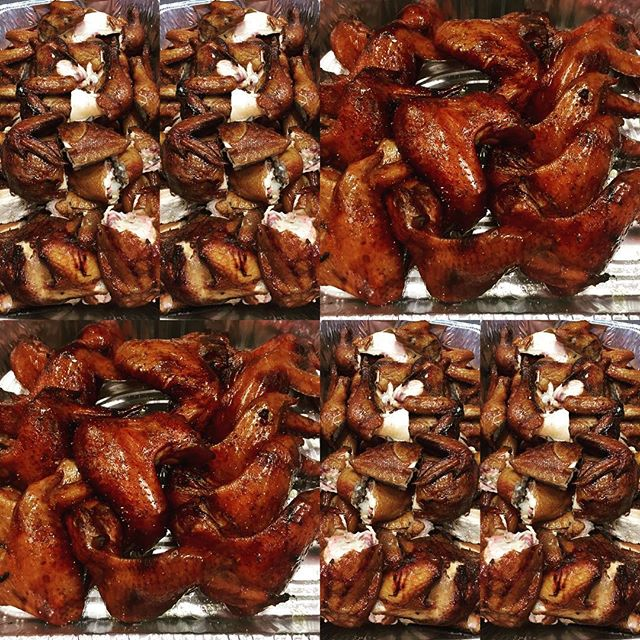 Enjoy our #smokedchicken #wings #bbq @smokedtogo 🔥#superbowlparty 🏈#ridgewoodnj #justsmoke #glutenfree #sauceontheside