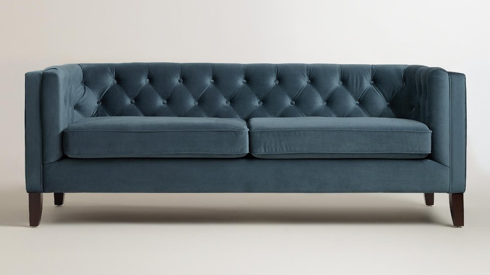 World Market Velvet Kendall Sofa 699. The Look For Less Velvet Designs
