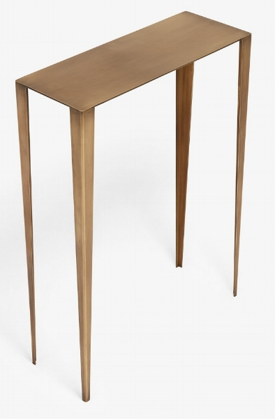 En Pointe - Small Brass Console Table - $1,595