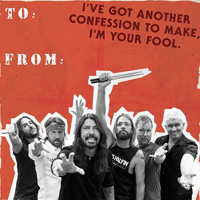A little VDay action from @dannywimmerpresents and yours truly! @foofighters @311 @incubusofficial #happyvaletinesday