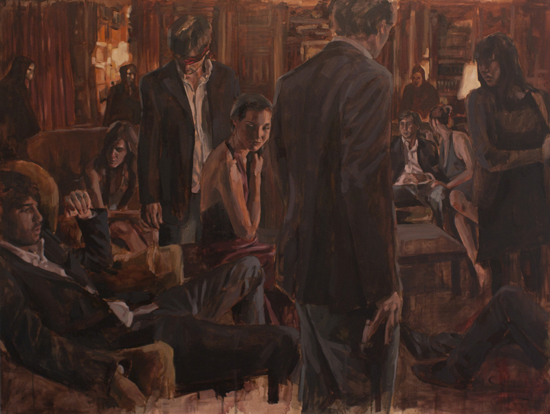 Blind Leading the Blind, oil on canvas, 110 x 146 cm