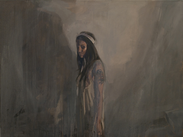 The Voice that Never Sings, oil on canvas, 77 x 102 cm, 2010
