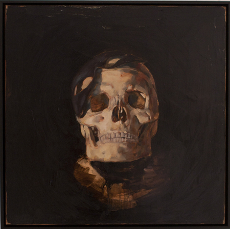 Death at a Masquerade, oil on board, 40 x 40 cm, 2010