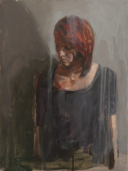 Apprehension 2, oil on board, 60 x 45 cm, 2010