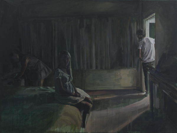 An Unexpected Arrival, oil on canvas, 92 x 122 cm, 2010