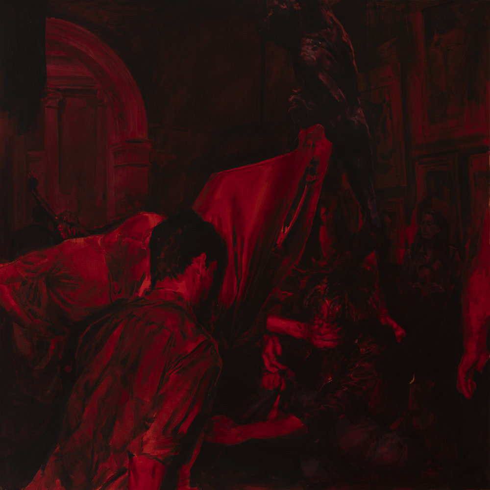 Colossus, 76cm x 76cm, oil on canvas, 2018