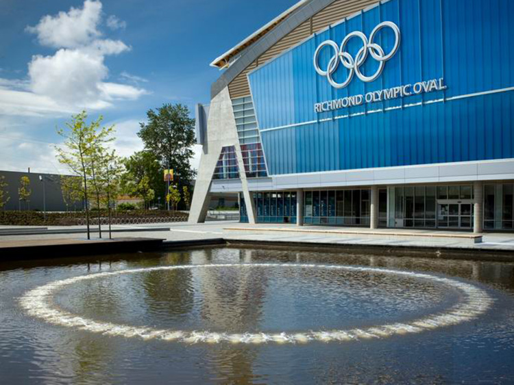 Richmond Olympic Oval water feature - Vincent Helton 1.jpg