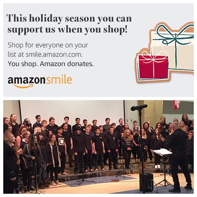 Every time you shop Amazon Smile you help make money for our choir! #lastminutegifts #merrychristmas #nuchoir