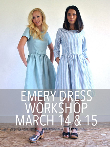 emery dress class christine haynes sew LA