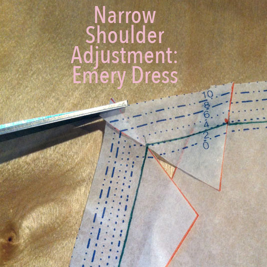 Narrow Shoulder Adjustment: Emery Dress - City Stitching with Christine Haynes