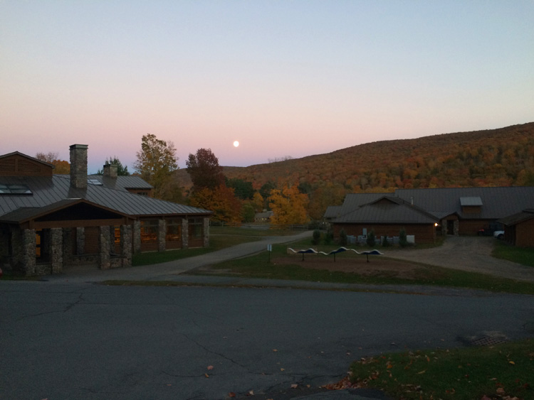The full moon rising over Frost Valley YMCA