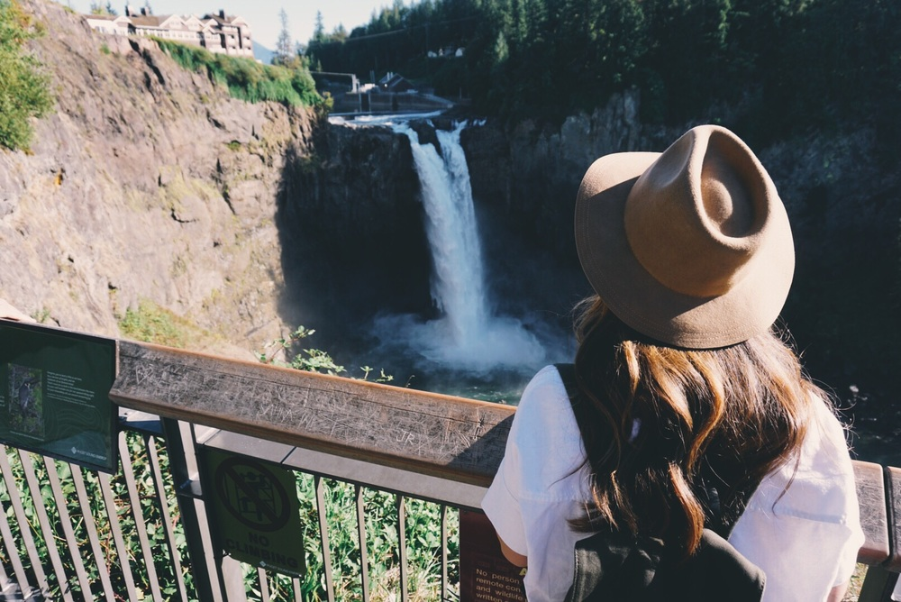 Snoqualmie Falls... Is an absolute must. Mother Nature is not holding back here.