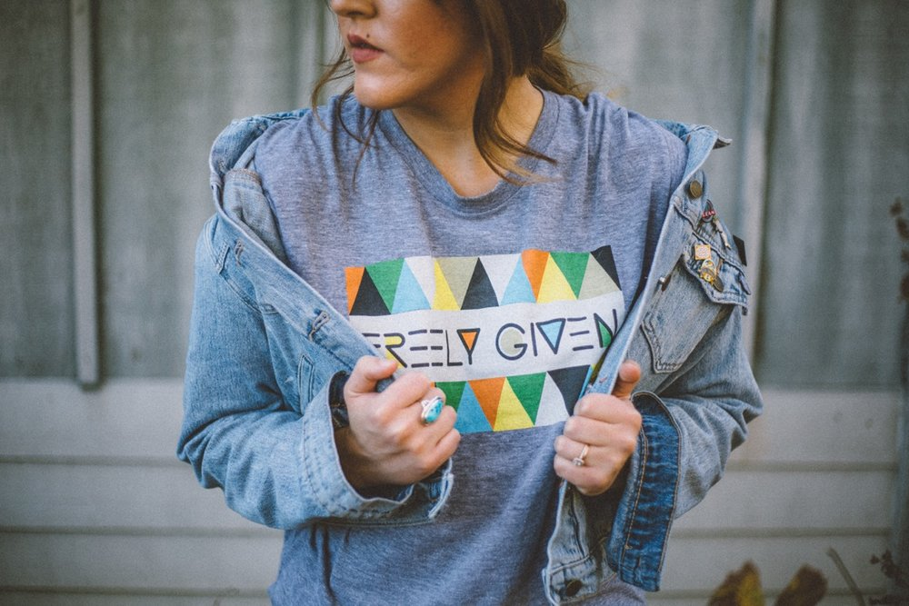 """Go Kit Go  """"Triangles""""  shirt was designed by Ampersand Design Studio specifically for the Go Kit Go collection."""