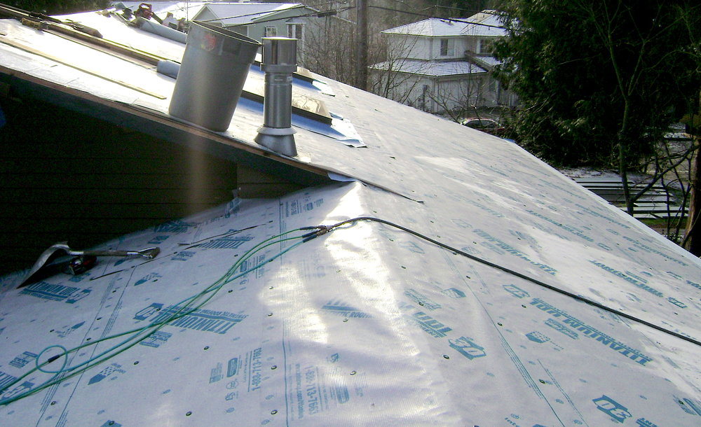 They Then Installed New Plywood And Titanium UDL Synthetic Roofing  Underlayment To Provide A Secure Foundation For The Metal Roofing System ...