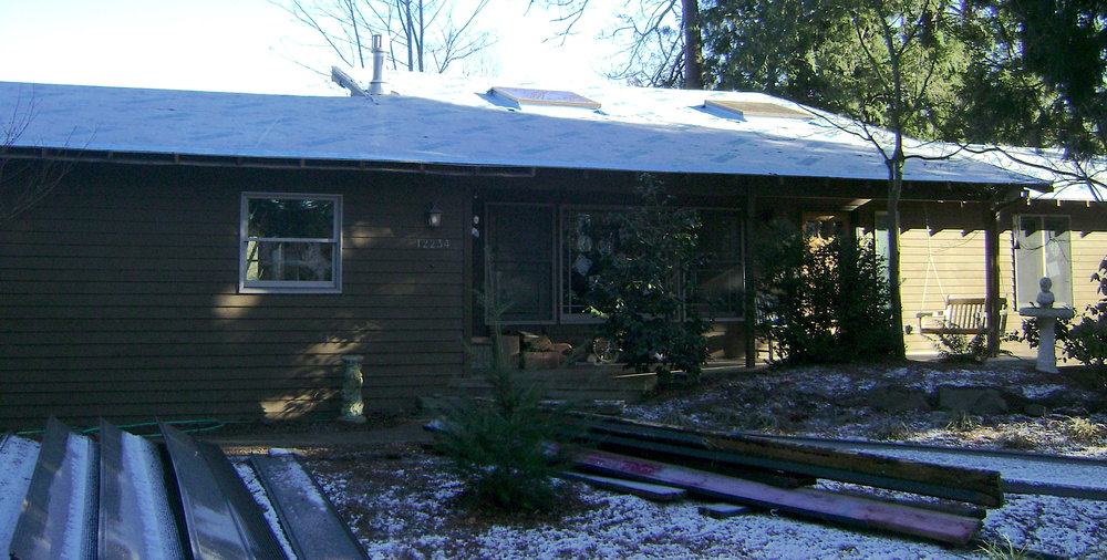 Before the new metal roofing was installed on this Kirkland home