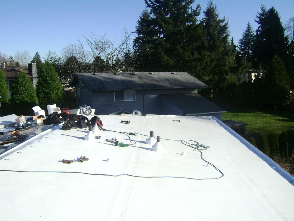 Flat Roofing: PVC, TPO, & EPDM