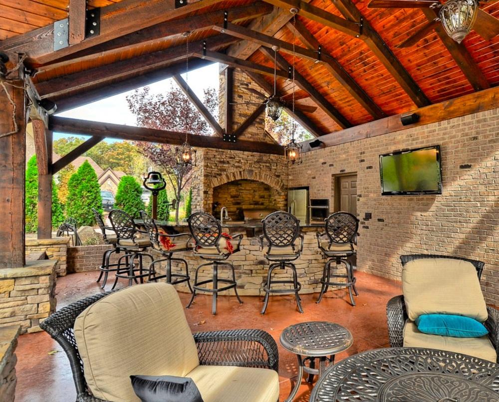 Obrien Custom Home Designs Part - 48: ... OZ-custom-Homes-of-Charlotte-Fort-Mill-Pool- ...