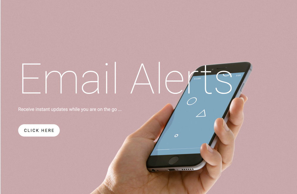 Become a market insider by receiving email alerts when a home matching your desires comes on the market...