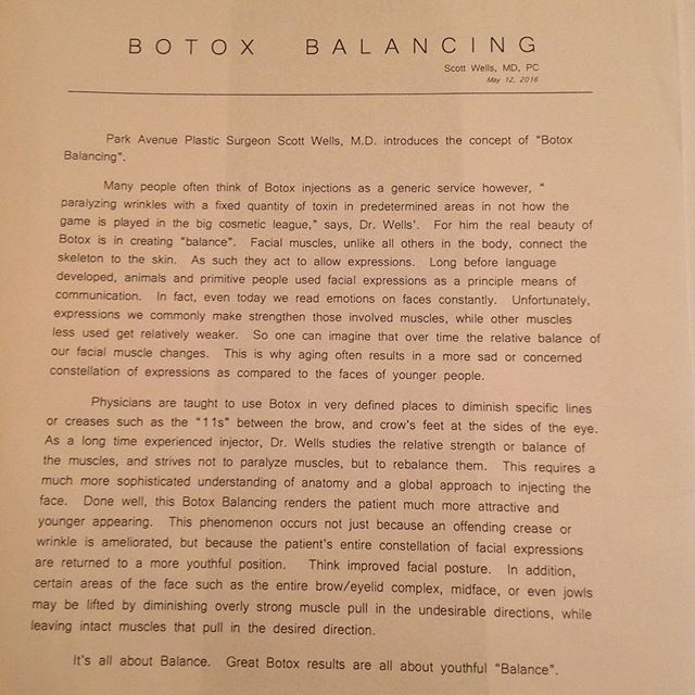 There's more to #Botox than just paralyzing #wrinkles. Dr. Wells believes the real of #beauty of #BotoxCosmetic is in creating #balance! #beautycare #beautyguru #skincare #cosmeticenhancement #newyork #LookingYoungNeverGetsOld #BeautyForLife