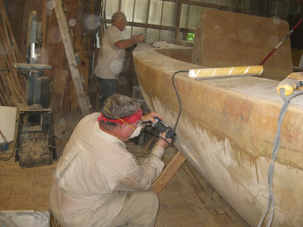 Larry shaping scupper outboard