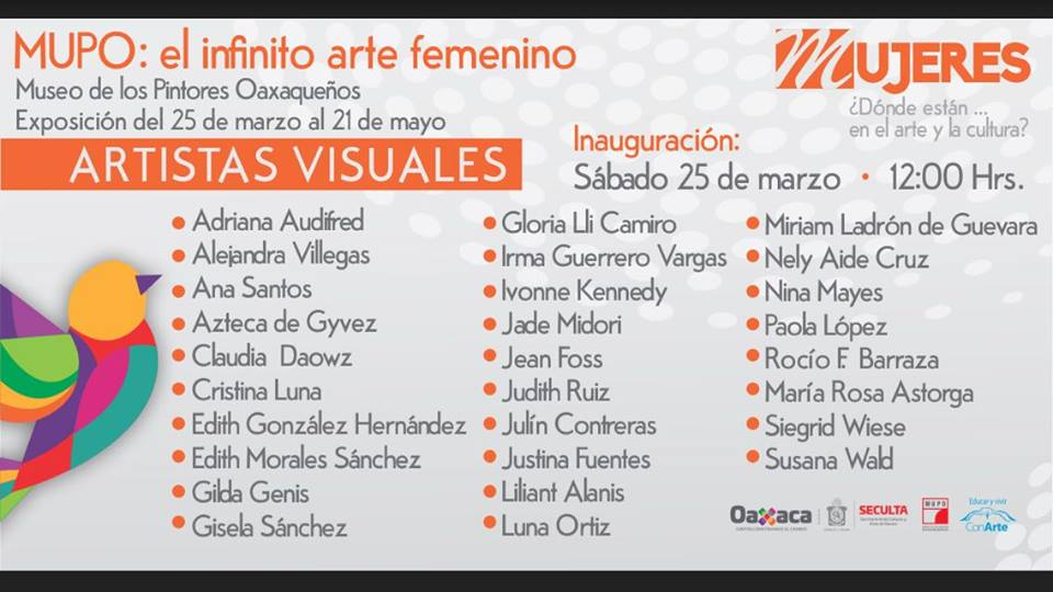 MUPO poster EL ARTE INFINITO FEMENINO