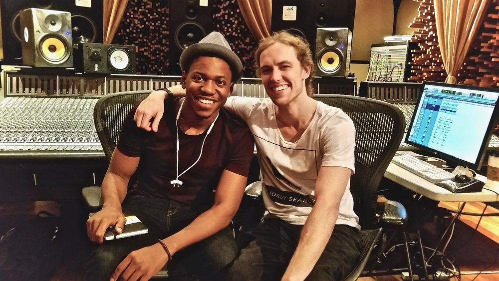 Me and Chris Blue at Blackbird Studios