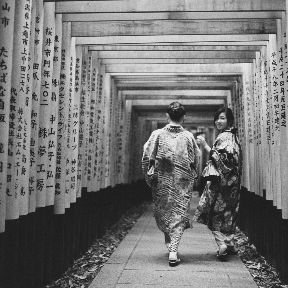 Girls at Fushimi Inari-taisha Shrine