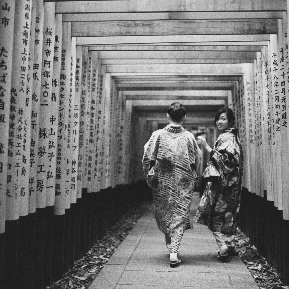 Girls at Fushimi Inari-taisha Shrine