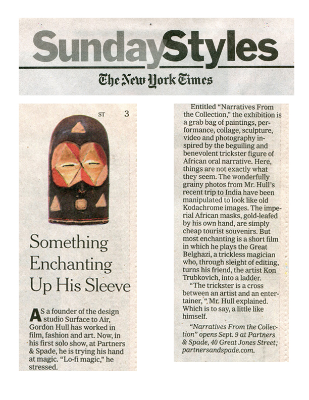 New York Times Sunday Styles feature on the show.