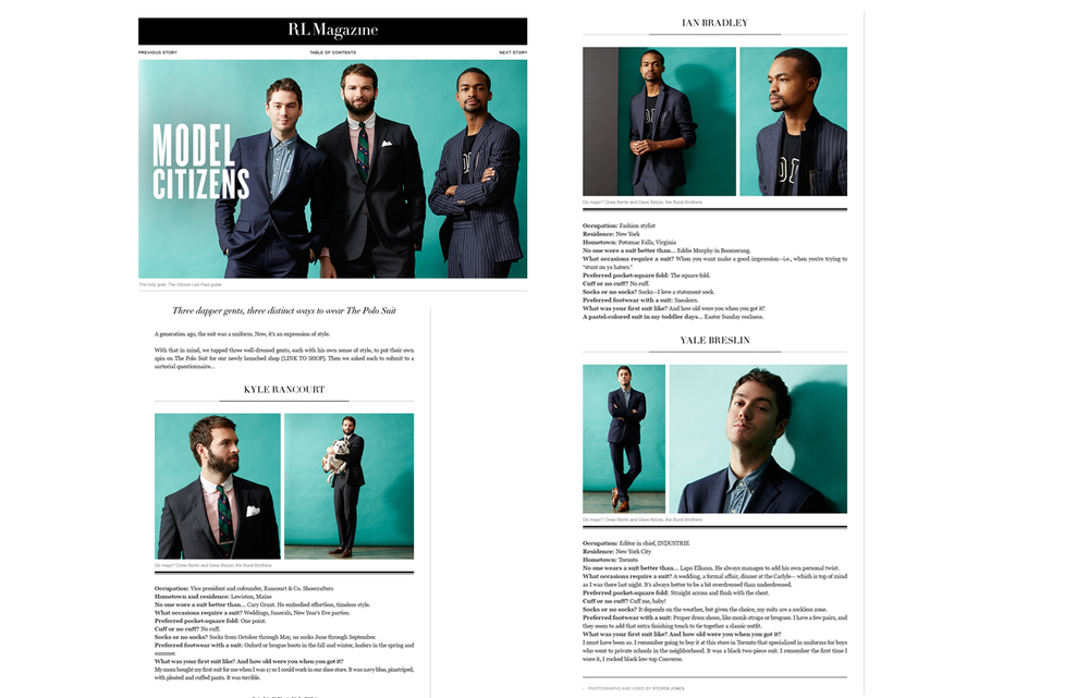 THE POLO SUIT SHOP AND CAMPAIGN