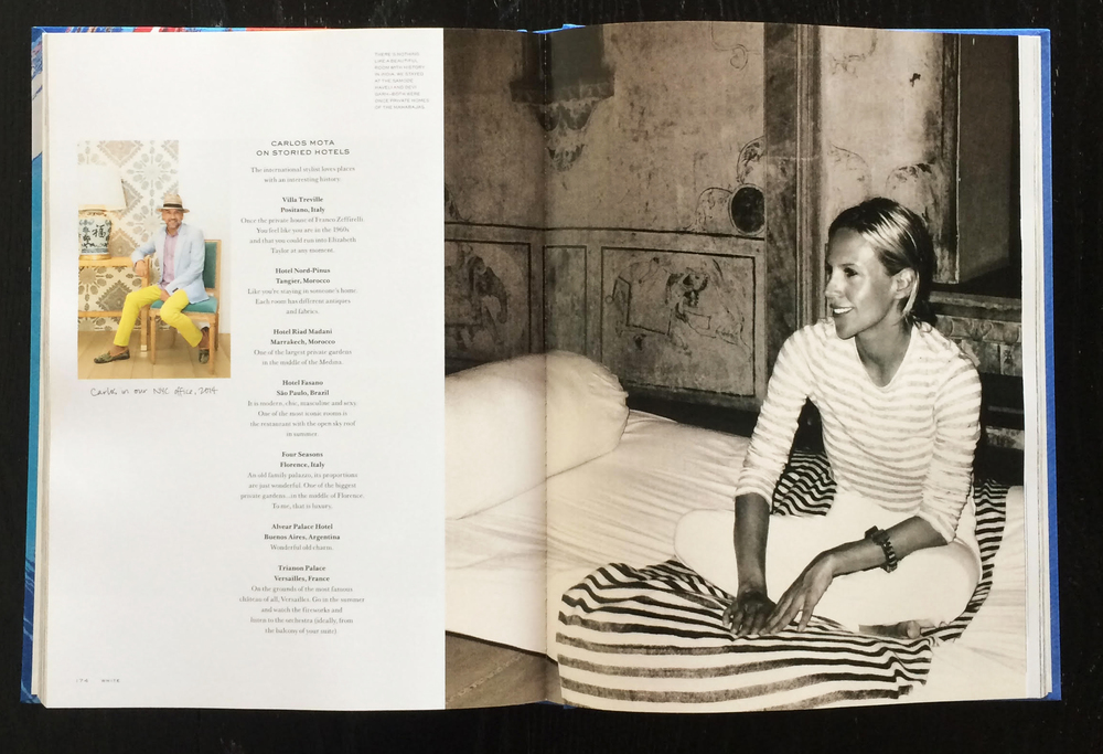 35+ of Gordon's photos appear inside Tory's inspiration book- TORY BURCH: IN COLOR as well as on the cover of the deluxe edition.