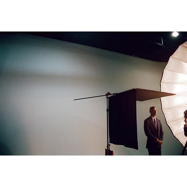 Love me a giant parabolic #bts #photoshoot