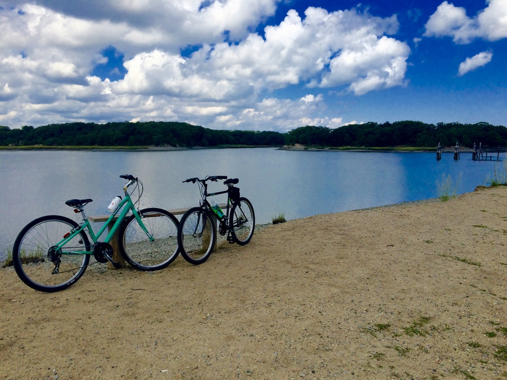 My friend Caiti and I went biking as much as possible this year. This was one of our favorite places to go.
