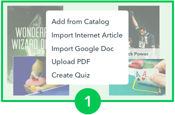 Choose from a diverse catalog of thousands of texts or upload an internet article, google doc, or PDF.