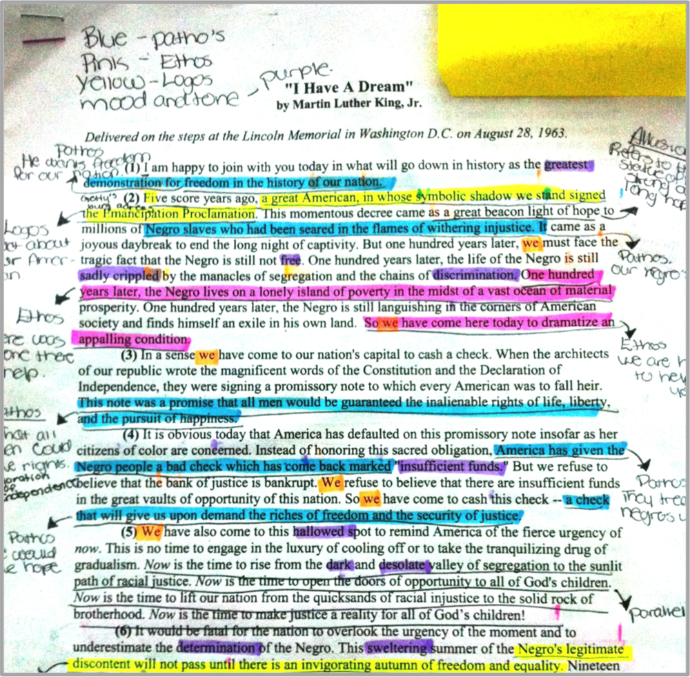 Annotations on paper are cumbersome for students to organize and for teachers to review.