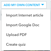 We allow teachers to upload their own content.