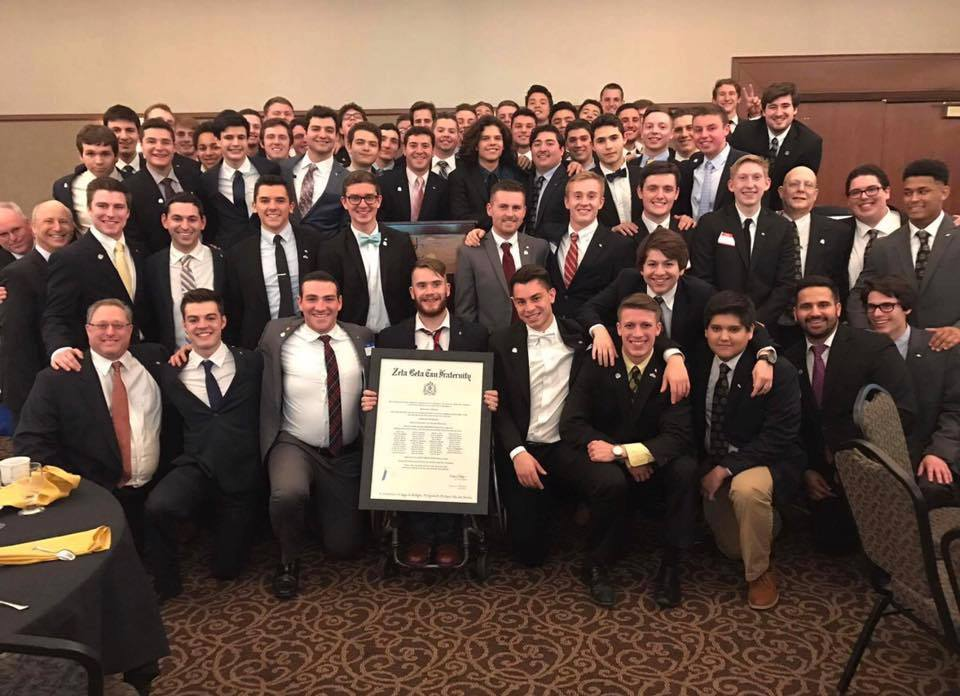 The Omega Chapter at the University of Missouri accepts its official Charter (March 4, 2017)