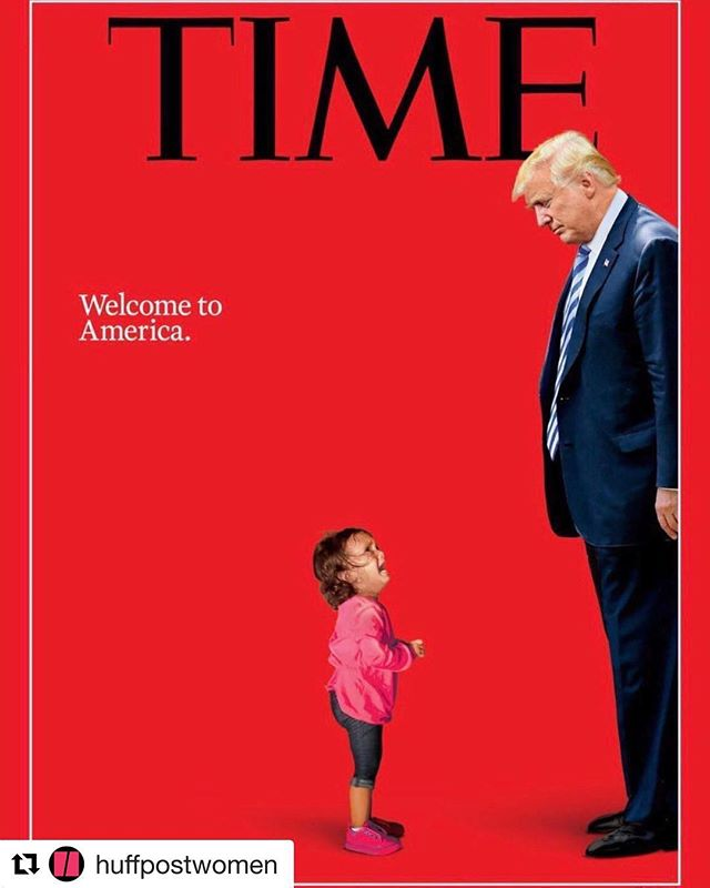 #Repost @huffpostwomen ・・・ The latest @time cover says it all with a stark, disturbing image. America in 2018. 🇲🇽😔 Thank goodness for free press. 🖕🏻Let's keep it that way! #FuckYouTrump #myheartbreaks