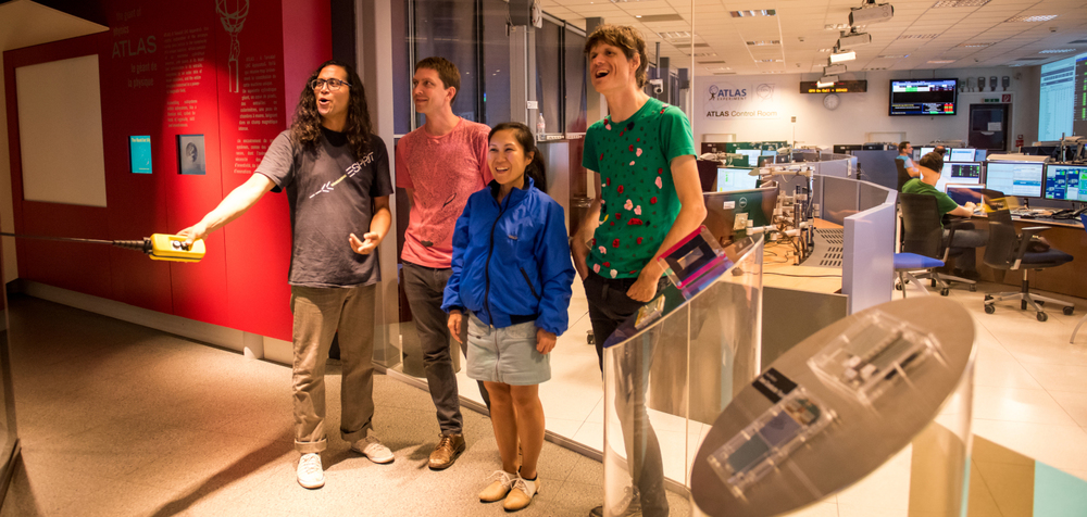 The band Deerhoof at the ATLAS Experiment Visitor's Centre (Image: Marine Bass/CERN)