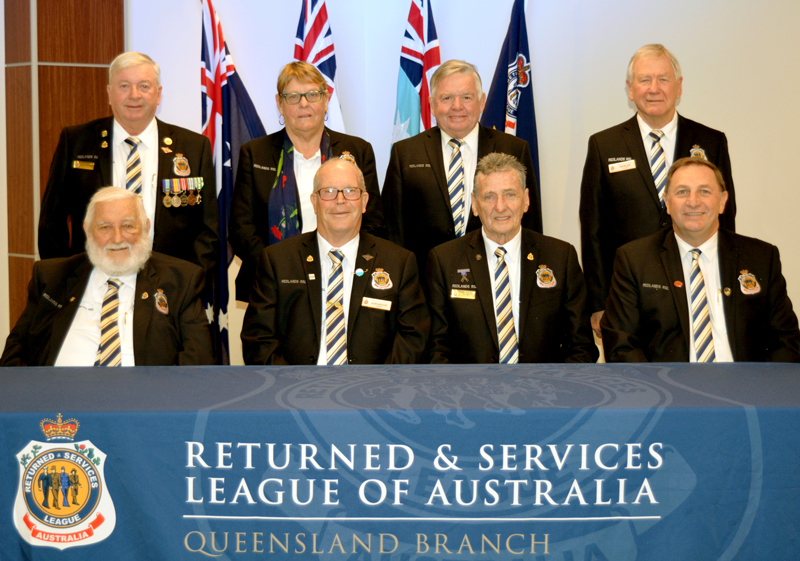 MANAGEMENT COMMITTEE:  Back Row (from left to right): League Secretary Michael McDonnell, Linda Harcourt, Greg Saunders, and Robert Wilson. Front Row (from left to right): Vice President Les Warner, President Alan Harcourt, Deputy President Ian Gray, and General Manager Peter Harrison