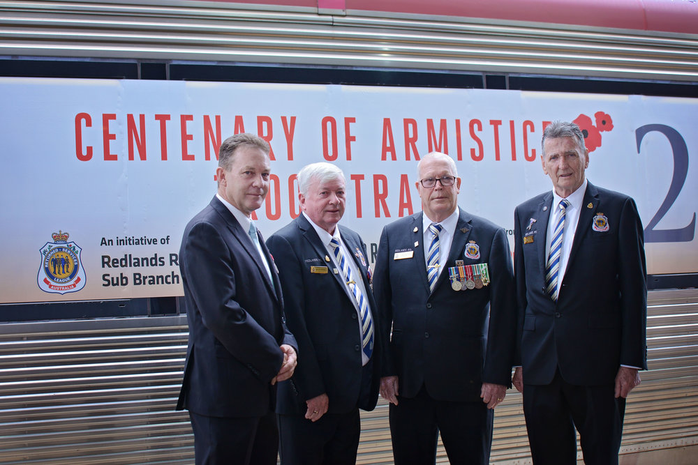 Designed by Redlands RSL Sub Branch and unveiled at Roma Street Station on Thursday 11th October 2018.
