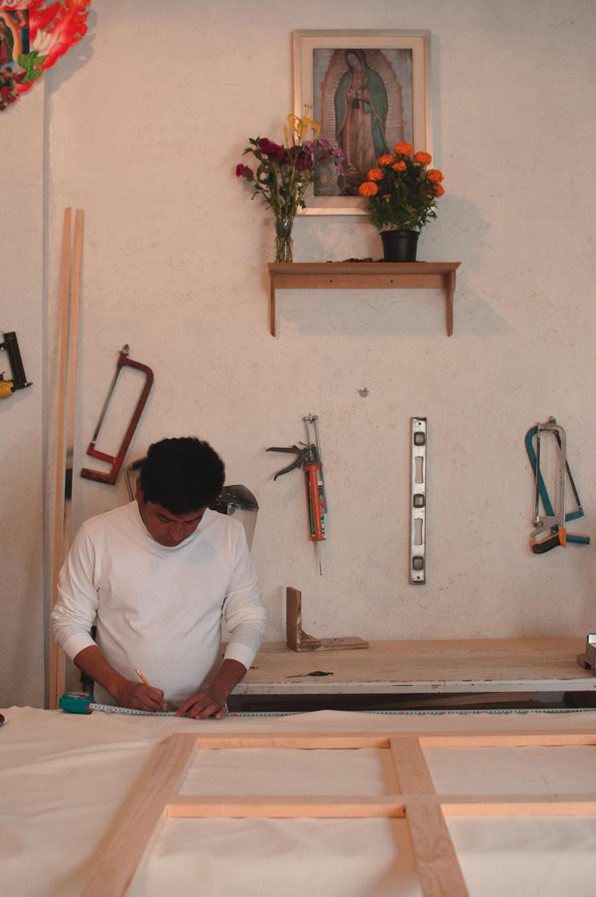 En el taller de Martín Rendón, carpintero  Fotografía por Daniela Castillejos Chévez