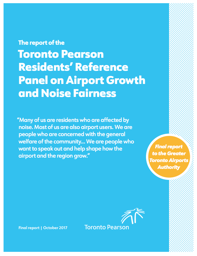 The Toronto Person Residents' Reference Panel on Airport Growth and Noise Fairness (2017)