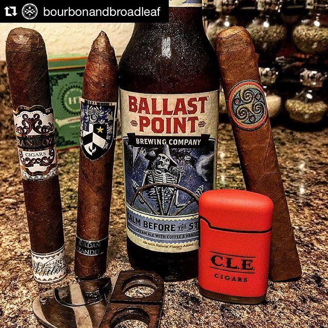 #Repost @bourbonandbroadleaf ・・・ Drinking a @ballastpointbrewing Calm Before the Storm and lining up my 4th of July smokes... @arandozacigars White, @mbombay_cigars Tobak & @ja3cigars #stogie #cigarsociety #cigarporn #cigarworld #cigarphotography #finerthings #4thofjuly #celebrate #cigar #cigarreview #cigarboss #cigarsnob #cigarlifestyle #cigarnation #finerthings