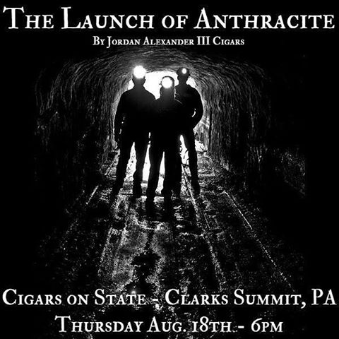 Tonight we launch Anthracite at @cigarsonstate in Clarks Summit, PA. Join us to try this brand new blend with great event-only deals.  #coal #botl #sotl #cigars #cigar #ja3cigars #jordanalexanderiii #quesadacigars #botlpachapter #cigarevents #scranton #nepa #coalminer #newcigars #newestcigars