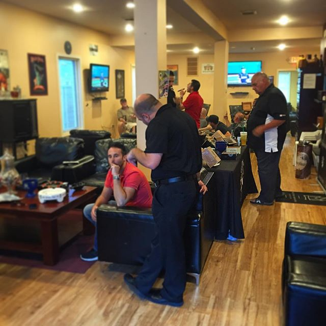 The Anthracite launch party is getting started here at Cigars On State.  #cigar #cigars #botl #sotl #ja3cigars #jordanalexanderiii #quesada #scranton #nepa