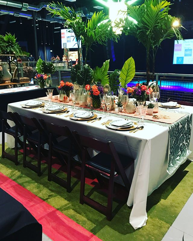 Phew! TGIF! It has been a busy week - we participated in #DesignAppetit organized by/for @focusonhomeorg. We are so excited to finally share more details of the final tabletops! TEAM GUERNSEY - Party in Palm Springs 🌺🥂🌴 #letsflamingle @guernsey_us @calvertsplantinteriors @designtex_inc @trikes.interiors @vintagetabletoprental @cole_dewey @criterionokc @escavitae @millikenfloors @kristinlcheck @kaylamadethepie @lauraripperton @noellebell07 @melwillis